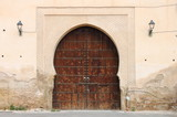 Arabic door in Meknes, Morocco