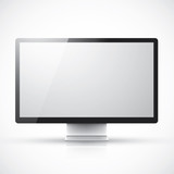 Modern computer screen vector illustration