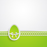 template of the Easter greeting card