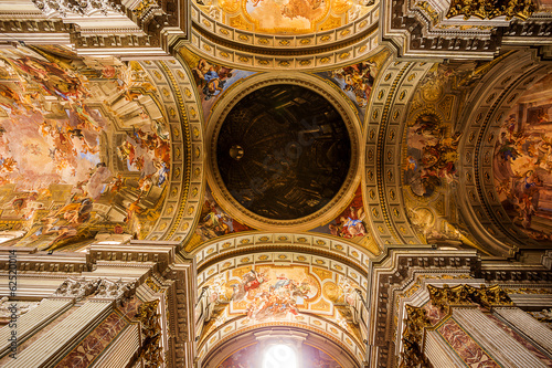 interior of The Church of St. Ignatius of Loyola. Rome. Italy.