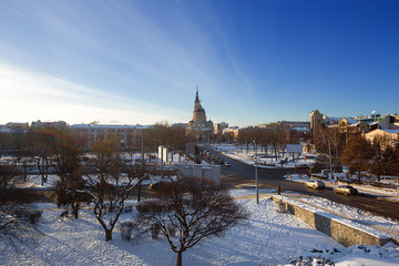 view of main landmark of Kharkov. Ukraine.