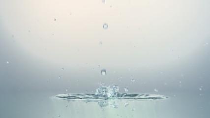 Close up of splash of water