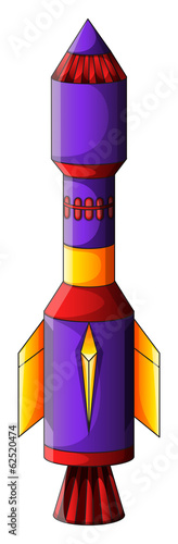 A colorful rocket