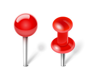 Red Push pin