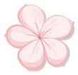 A five-petal pink flower