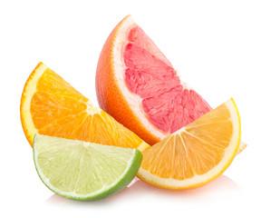 colorful citrus slices