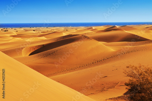 Natural Reserve of Dunes of Maspalomas, in Gran Canaria, Spain - 62521621