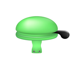 Bicycle bell in green design