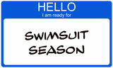 Swimsuit Season Nametag