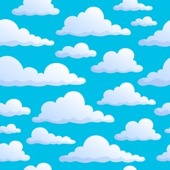 Seamless background clouds on sky