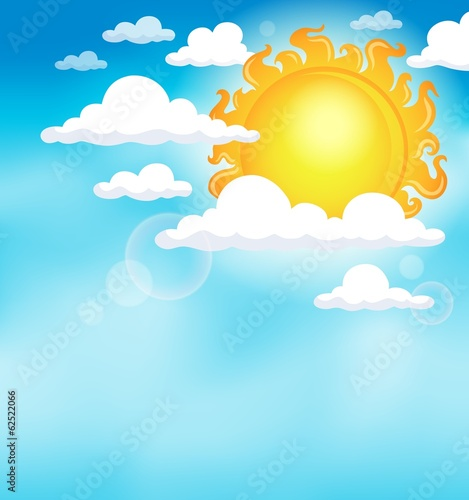Sun on sky theme image 1