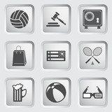 Icons on the buttons for Web Design. Set 1