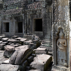 Apsara relief by Preah Khan, Angkor Wat, Cambodia