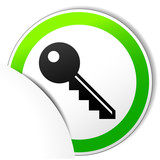 Vector key paper icon
