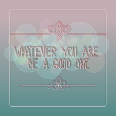 Vector background with quote