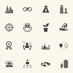 Business people Icons set.
