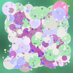 2d colorful bubbles