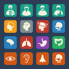 Medical Icons with texture background