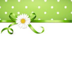 Margeritenschleife, Polka Dots - Frühling