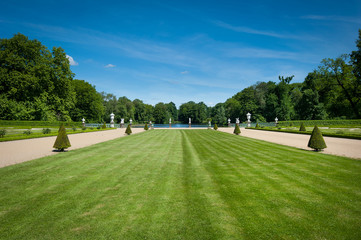 Charlottenburg Castle garden. Berlin, Germany.
