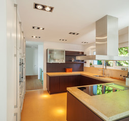 Modern house interior, expansive house architecture