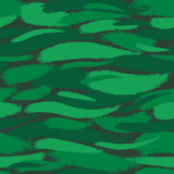 Seamless pattern with emerald brushstrokes.