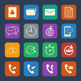 Phone and telecommunication icons.