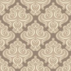 vector seamless backdrop. damask pattern. flower wallpaper