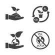Earth and ecology icons set.