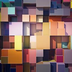 Cubes abstract background © Musicman80