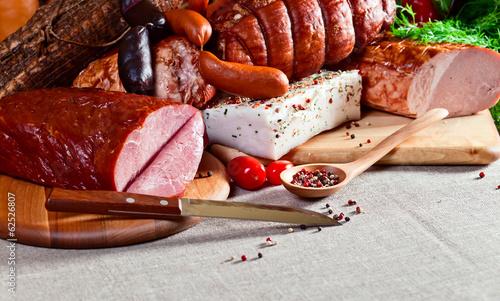 fototapeta na ścianę wędzone mięso