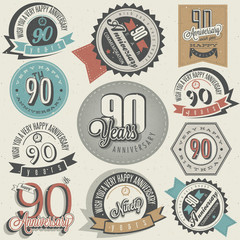 Vintage style ninetieth anniversary collection