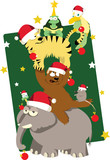 Animals' Christmas tree