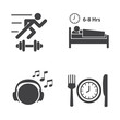 Good health icons set.