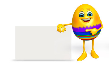 Happy Easter Egg with sign