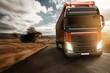 Leinwandbild Motiv Truck on Country Road