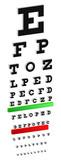 Classic 3D Snellen Eye Chart Test For Vision Disorders