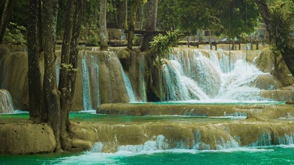 Forest Kouang Si Waterfall, Laos, Luang Prabang