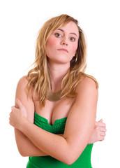 arogant blickende Frau