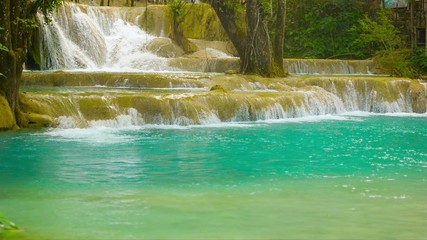 Beauty Kouang Si Waterfall, Laos, Luang Prabang
