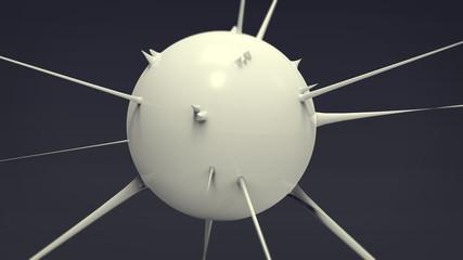 3D Virus Ceramic