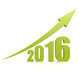 2016 growth green arrow