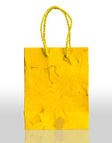 Yellow paper bag
