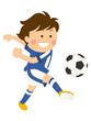 サッカー シュート 男性