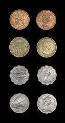 Set of coins of dominions of Great Britain