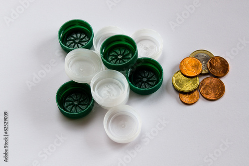recycle plastic caps, recover money