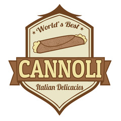 Cannoli stamp or label