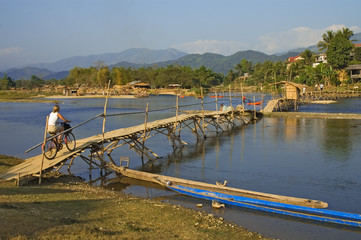 Bridge over Nam Xong River, Vang Vieng