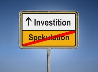 Investition / Spekulation