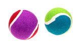 Two Small Fetch Balls Top View poster